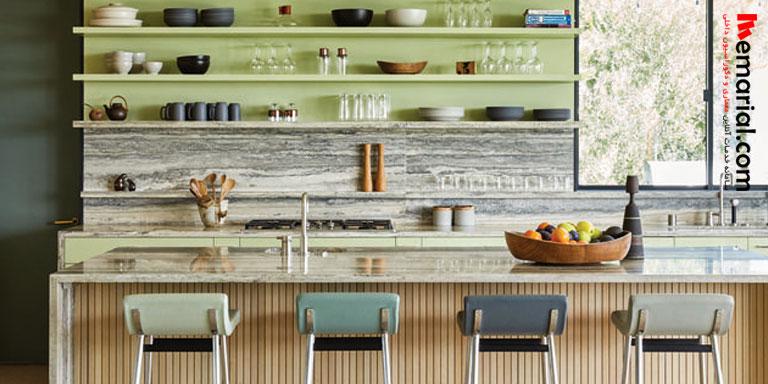 ۲۴ آشپزخانه با نشاط به رنگ سبز