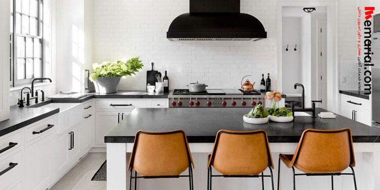 ایده هایی برای آشپزخانه سیاه و سفید