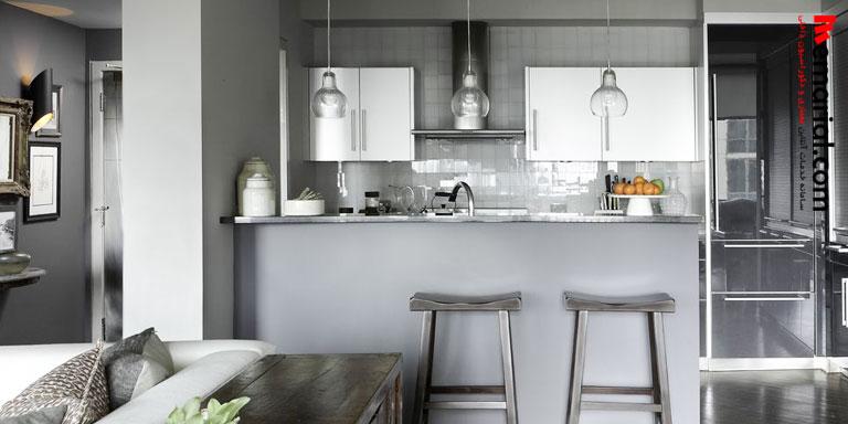 ۲۰ آشپزخانه لوکس با کاشیهای براق