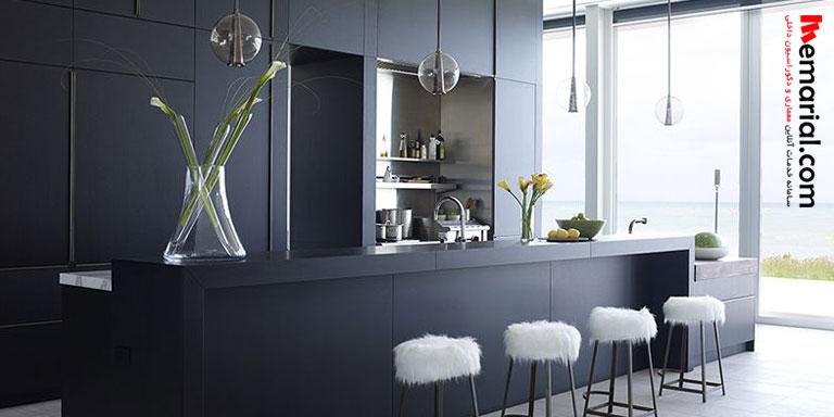 ۱۲ آشپزخانه زیبا با کابینت مشکی